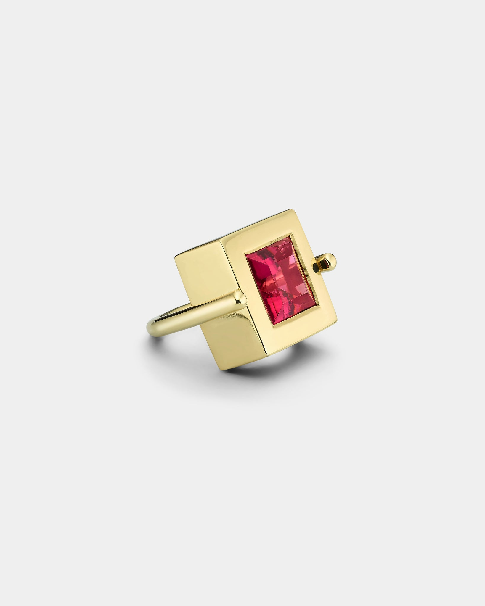 La Crème Watermelon Princess Cut Cocktail Ring