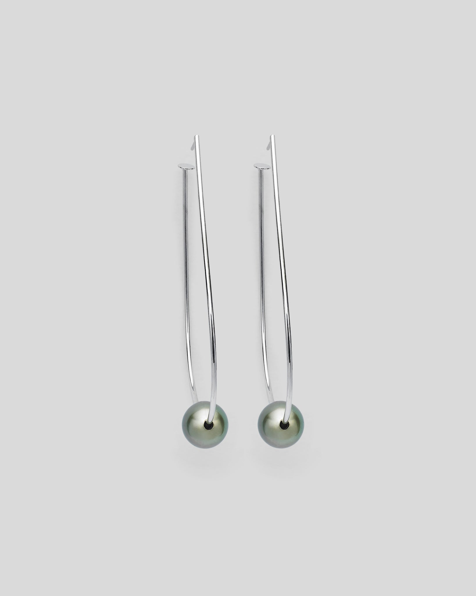 Teardrop Hula Tahitian Pearl Charm Earrings