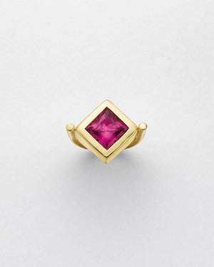 La Crème Pink Tourmaline Cocktail Ring