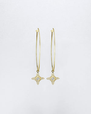 Hula Clover Croix Charm Earrings
