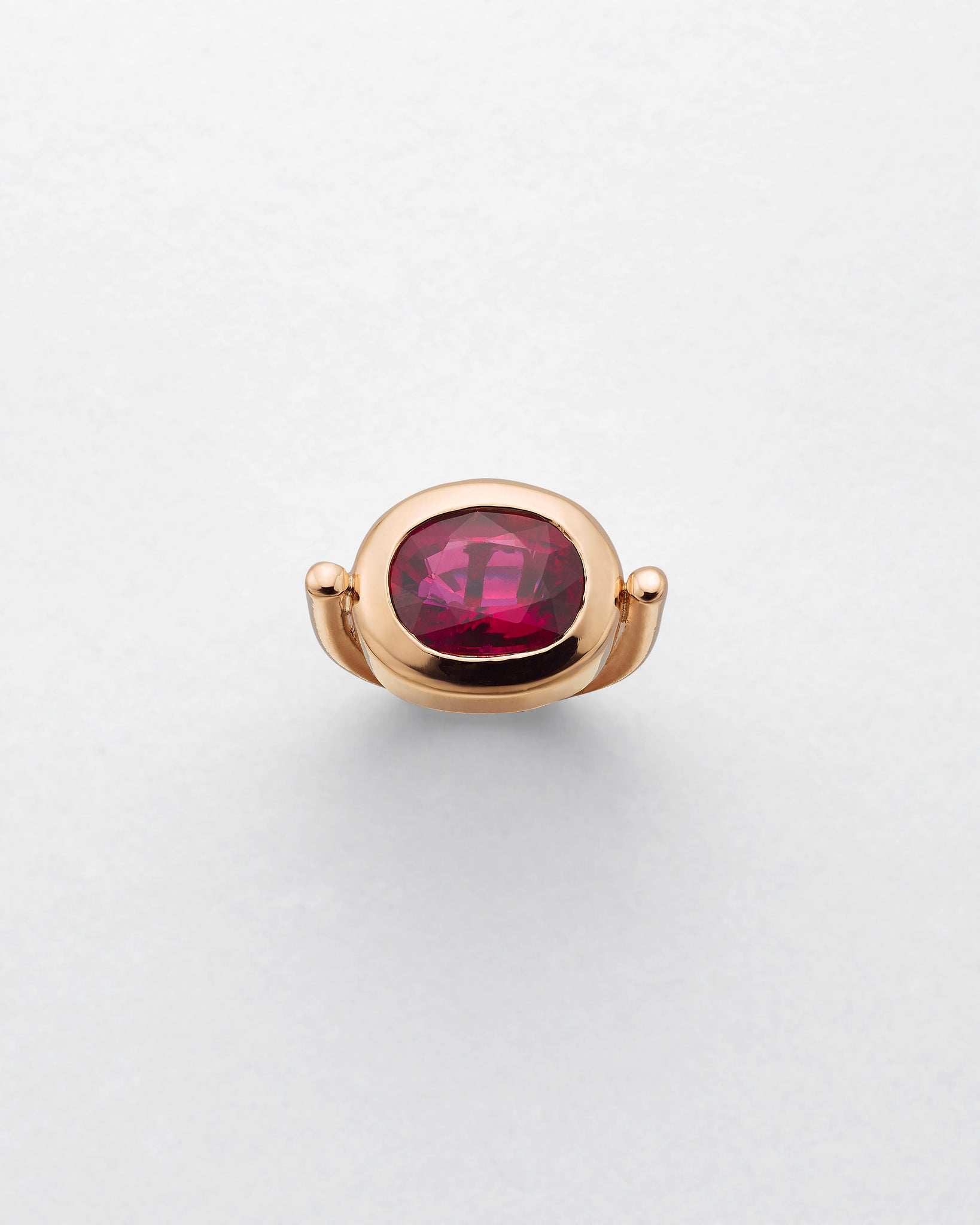 La Crème Magenta Tourmaline Cocktail Ring