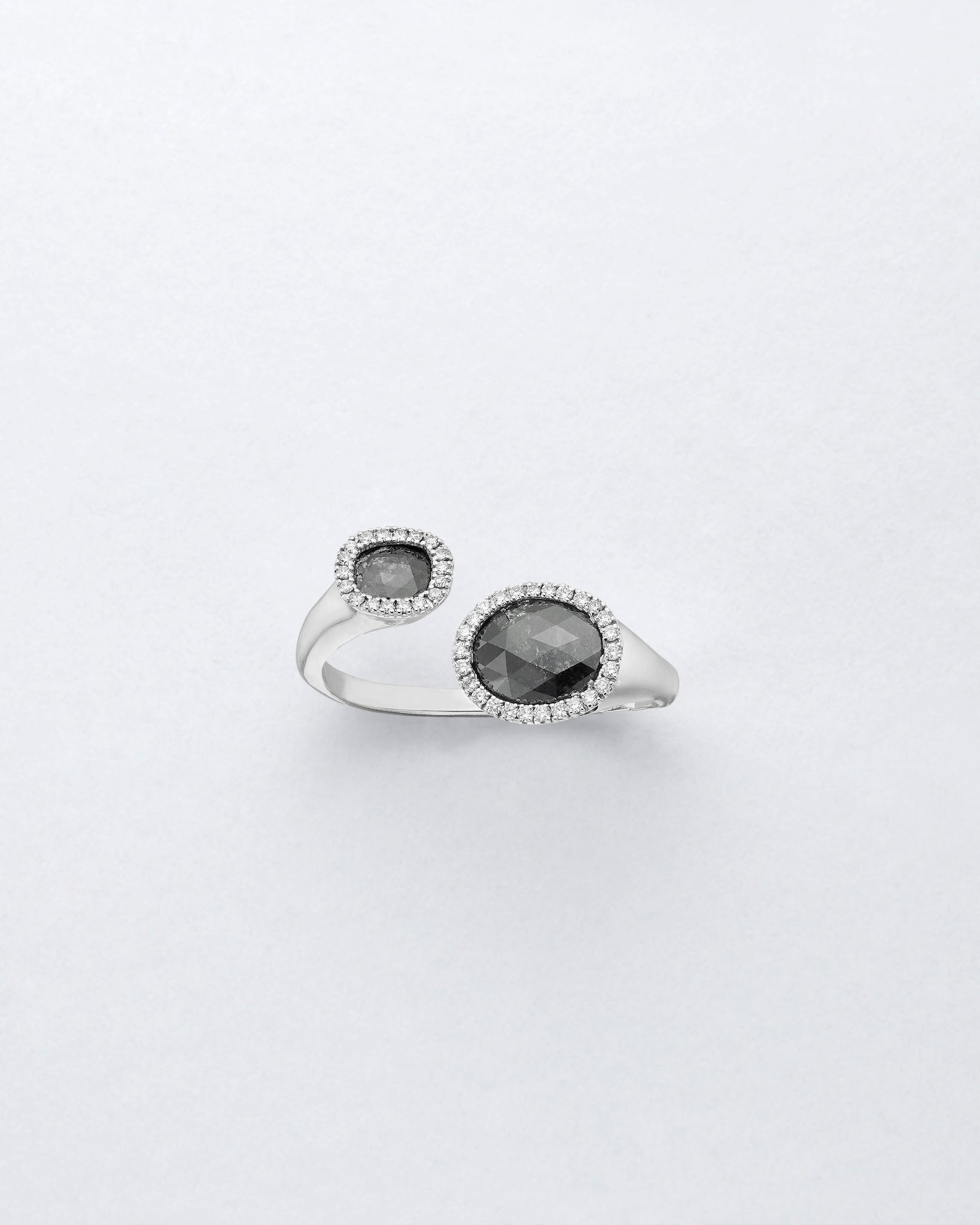 Duet Double Charcoal Diamond Ring