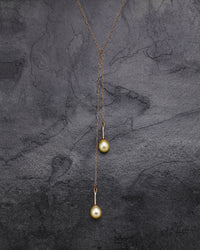 Split Ends Pearl Drop Lariat