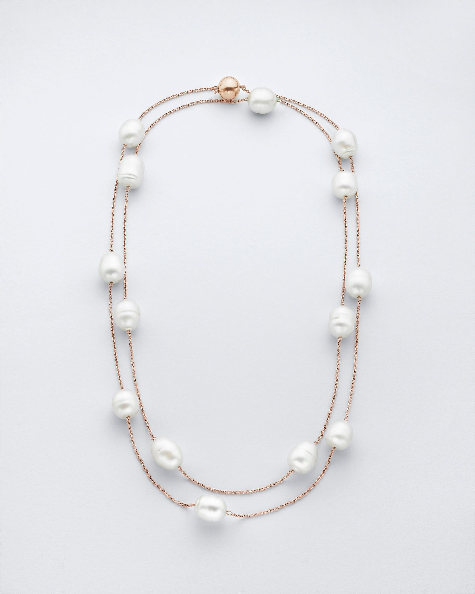 Chain Reaction Pearl Necklace