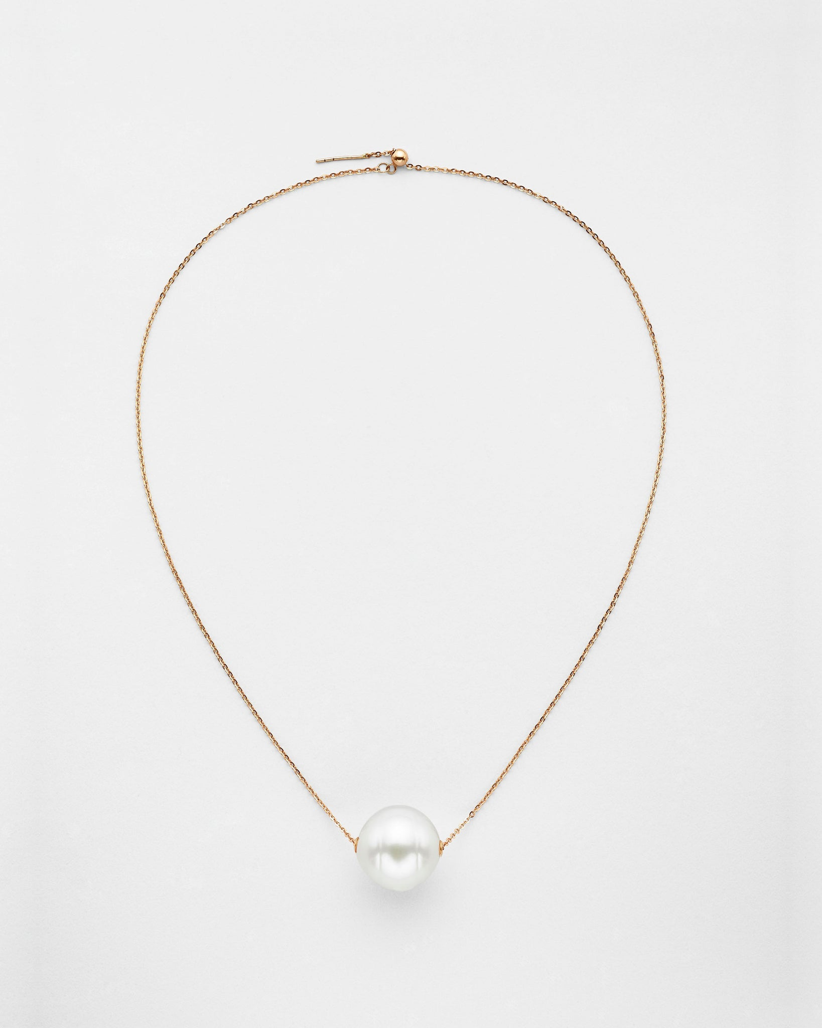 Ball and Chain Pearl Necklace