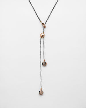 Strung out Black Diamond Cluster Lariat