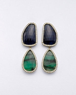 La Crème Emerald Earrings