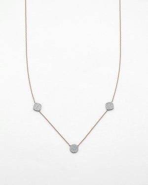 Chain Reaction Micropave Cluster Necklace