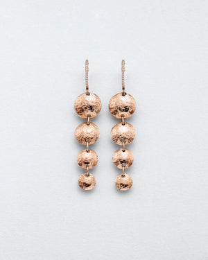 Cascading Hammered Disc Earrings