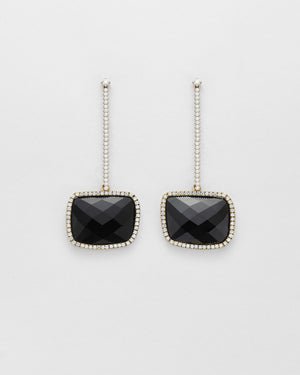 La Crème Diamond T-Drop Earrings