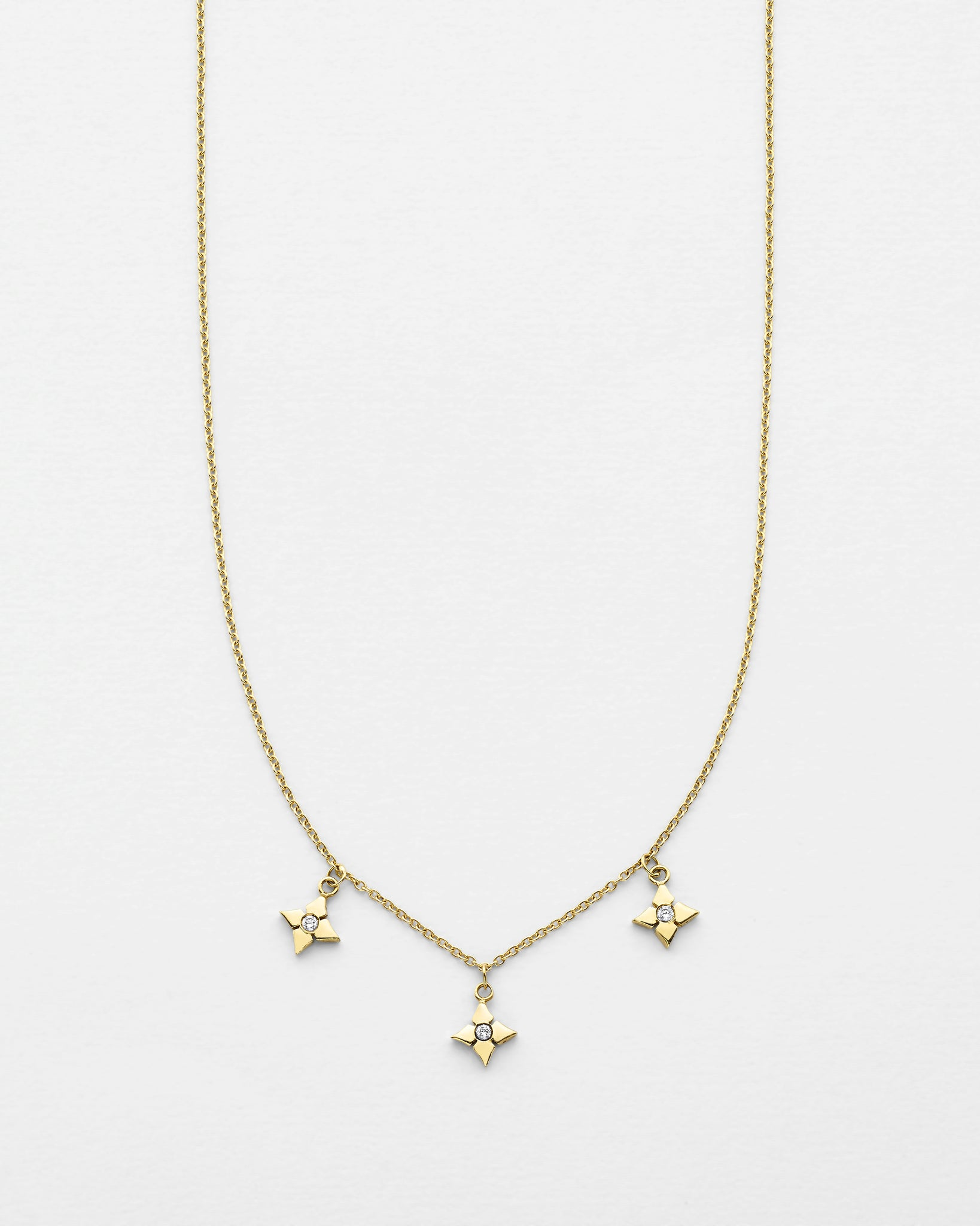 Chain Reaction Clover Trio Necklace