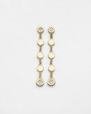 Drop Dead Disc Medallion Earrings