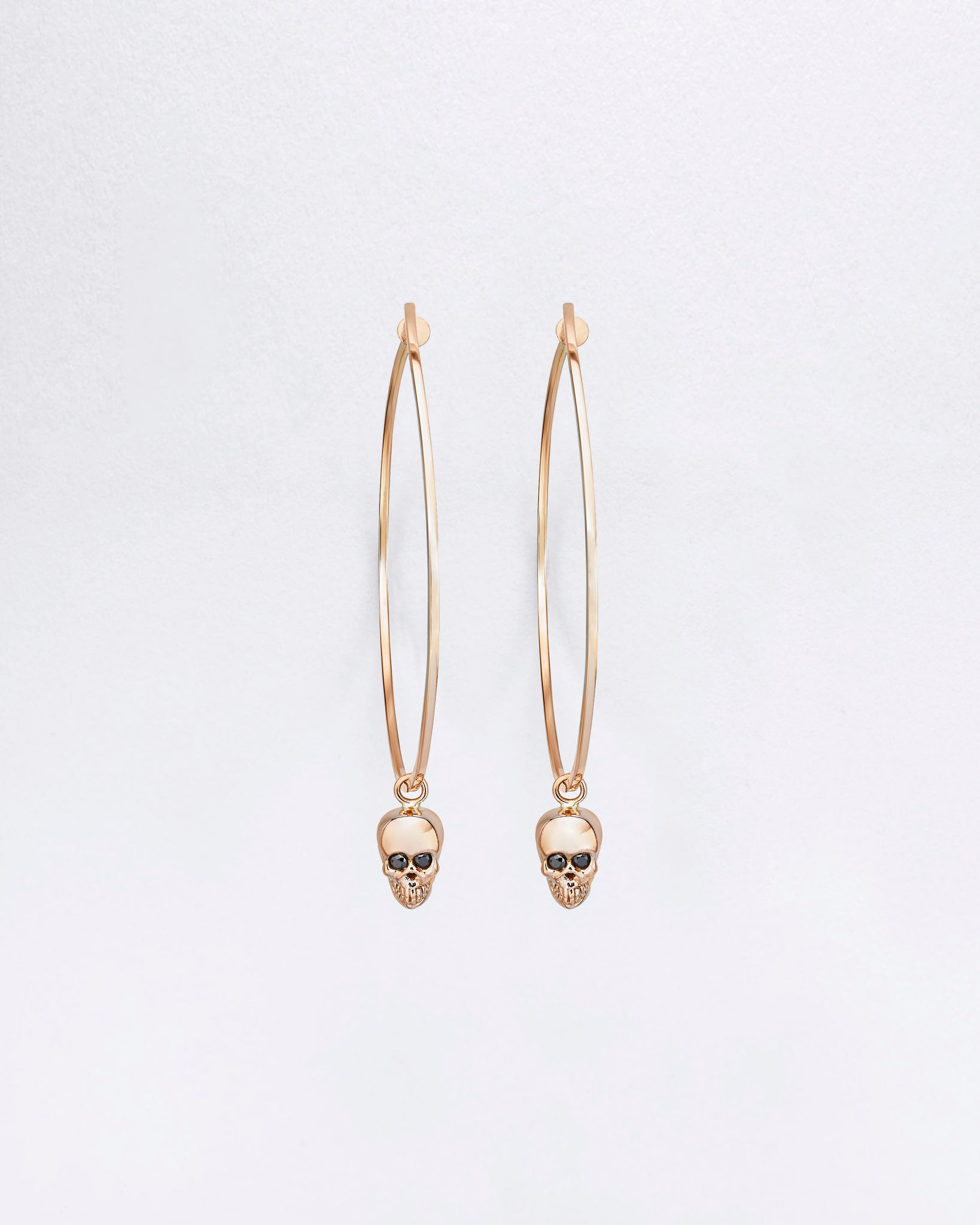 Hula Skull Charm Earrings