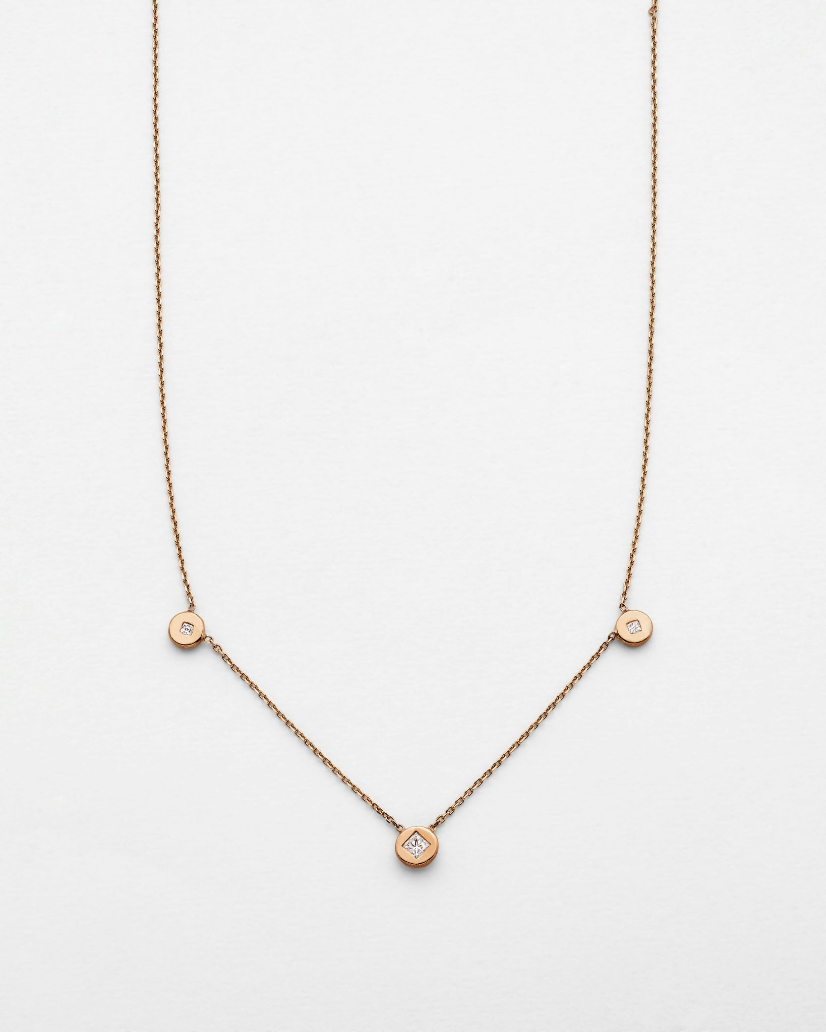 Chain Reaction Trio Medallion Necklace