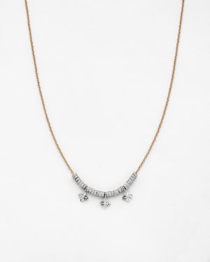 Chain Reaction Rondel and Pointed Petal Necklace