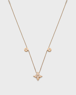 Chain Reaction Jumbo Clover and Medallion Necklace