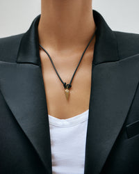 Black Butter Pendulum Necklace