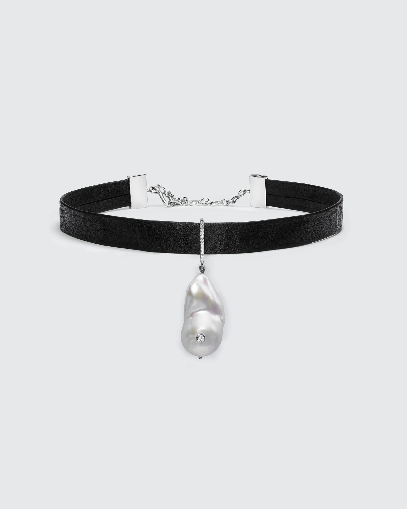 Black Butter South Sea Pearl Diamond Choker