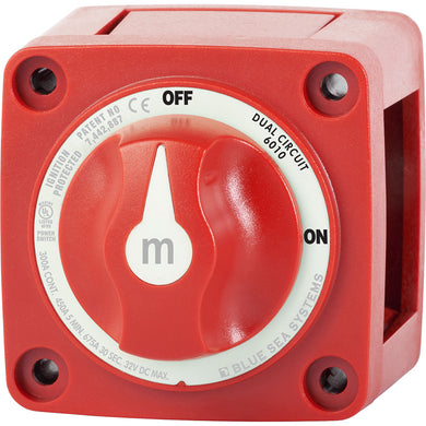 Blue Sea 6010 m-Series (Mini) Battery Switch Dual Circuit [6010]