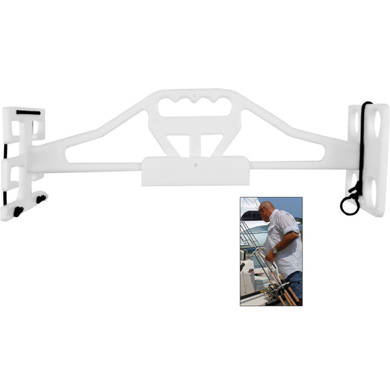 TACO Rod & Reel Tote 'Em Rack w/Wall Mount [P03-144W]