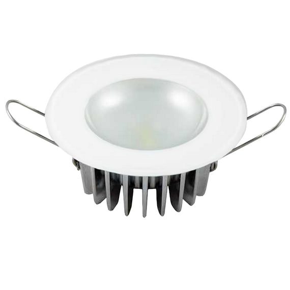 Lumitec Mirage - Flush Mount Down Light - Glass Finish/No Bezel - White Non-Dimming [113193]