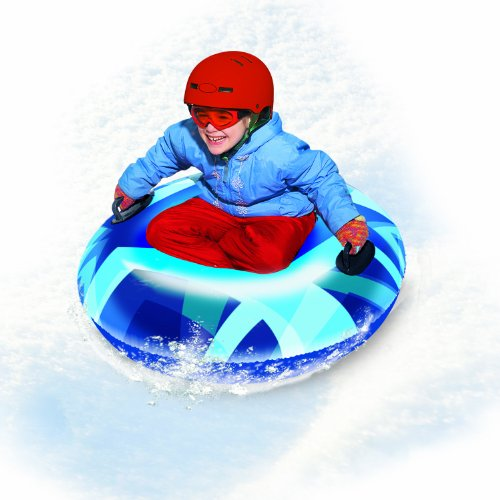 "Pipeline SNO RACER Inflatable 1 Person Snow Tube with 2 Grip Handles, 32"" Inch Diameter"