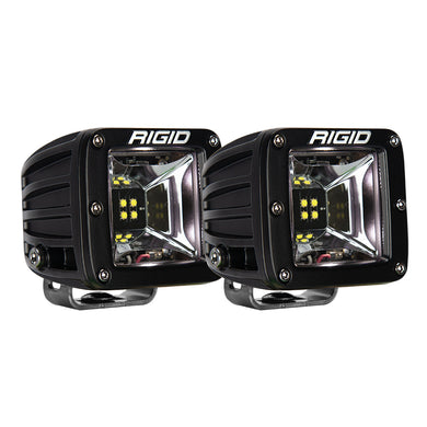 RIGID Industries Radiance Scene Lights - Surface Mount Pair - Black w/White LED Backlight [68200]