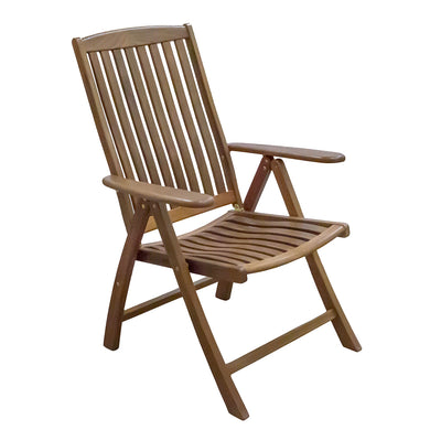 Whitecap Reclining Arm Chair - Teak [60071]