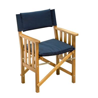 Whitecap Directors Chair II w/Navy Cushion - Teak [61052]