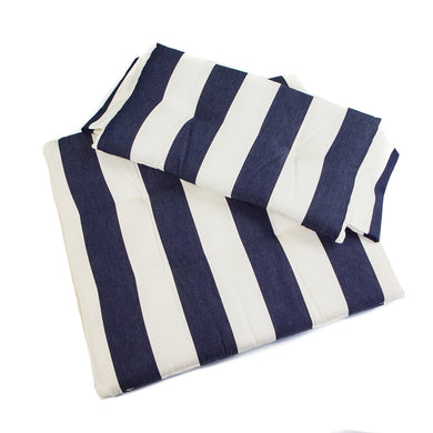 Whitecap Seat Cushion Set f/Directors Chair - Navy  White Stripes [97240]