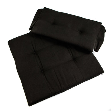 Whitecap Seat Cushion Set f/Directors Chair - Black [97241]