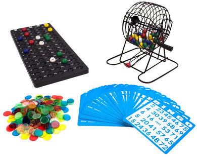 "Deluxe 6"" Bingo Game w-Colored Balls, 300 Chips and 50 Cards"