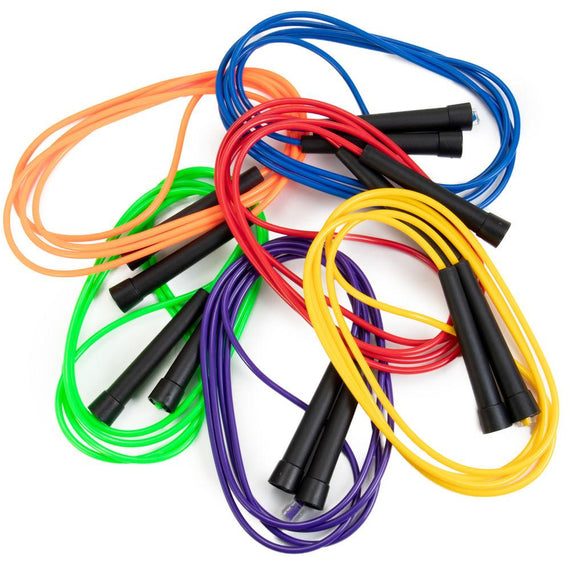 8-foot PVC Jump Ropes, 6-pack Assorted Colors