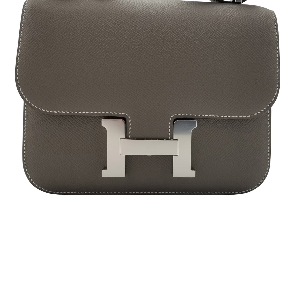 HERMÈS Constance Bag 18 Etoupe Epsom Leather Palladium Hardware
