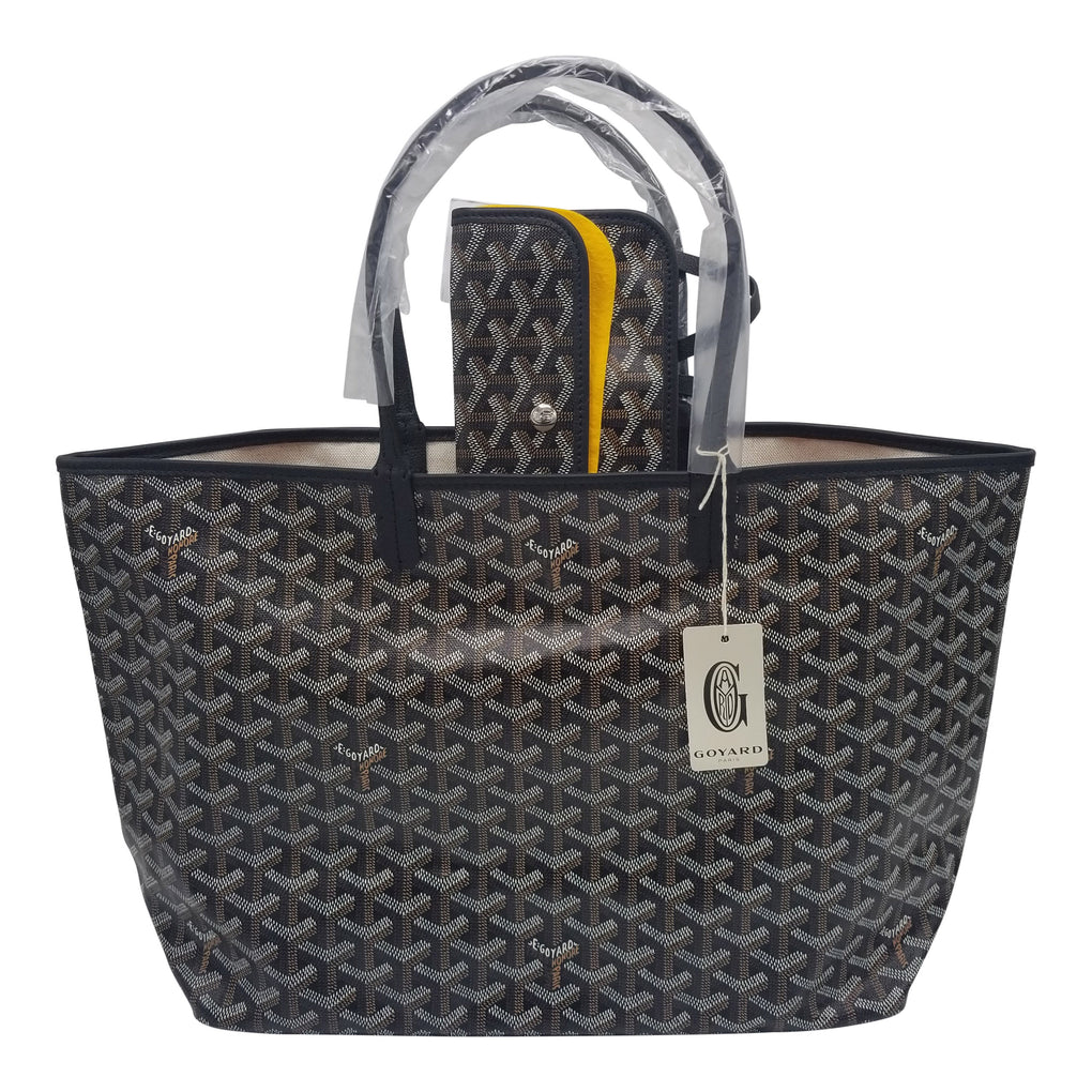 GOYARD St. Louis Tote PM Size Black on Black Trim