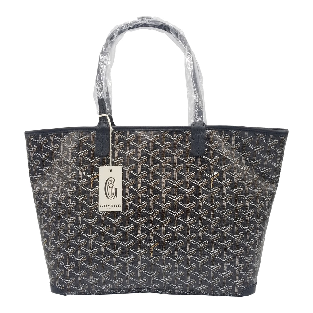GOYARD Artois Tote MM Size Black on Black Trim