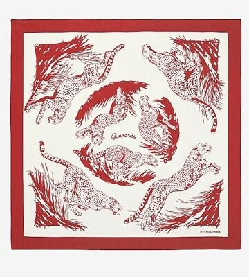 HERMÈS Cheval Guepards Tattoo Silk Twill Scarf 90CM