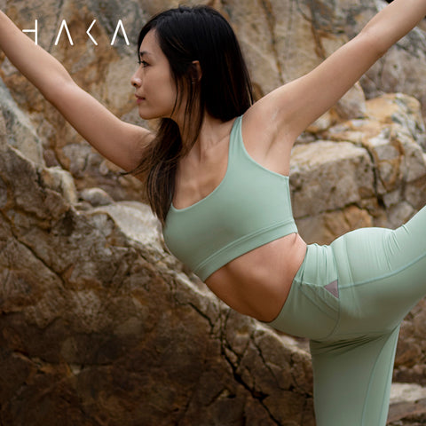 Tiaki Bra Top Fern Green - HAKA Active Yoga Activewear