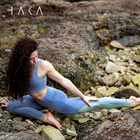 Anau Legging Cornflower blue - HAKA Active Yoga Activewear