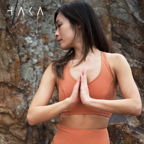 Tuhinga o Mua Bra Top Red Fox - HAKA Active Yoga Activewear