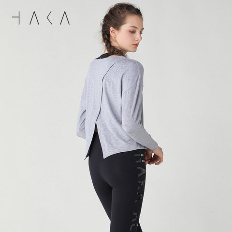 MOVES Tee Grey Marl - HAKA Active Yoga Activewear