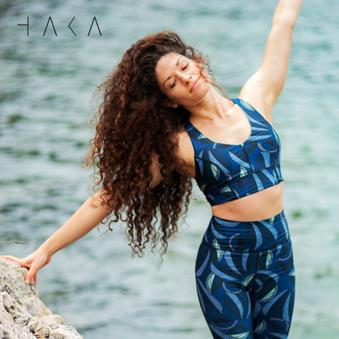 Waoku Bra Top Jungle Print - HAKA Active Yoga Activewear