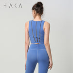 TE ATA NOHO Bra Top Dutch Blue - HAKA Active Yoga Activewear