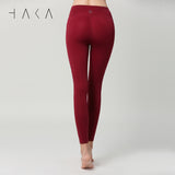 BREAKTHROUGH Legging Burgundy - HAKA Active Yoga Activewear