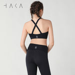 TURE Bra Jet Black - HAKA Active Yoga Activewear
