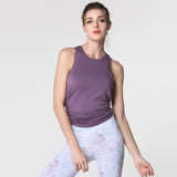 BE FREE Tank Violet - HAKA Active Yoga Activewear