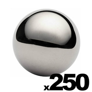 "250 - 1"" Inch G25 Precision Chrome Steel Bearing Balls"