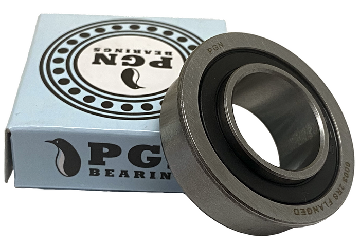 "3/4"" x 1-3/8"" Flanged Ball Bearing - 6003-2RS Flanged - Replacement for Lawnmower, Carts & Hand Trucks Wheels, and Wheelbarrows"