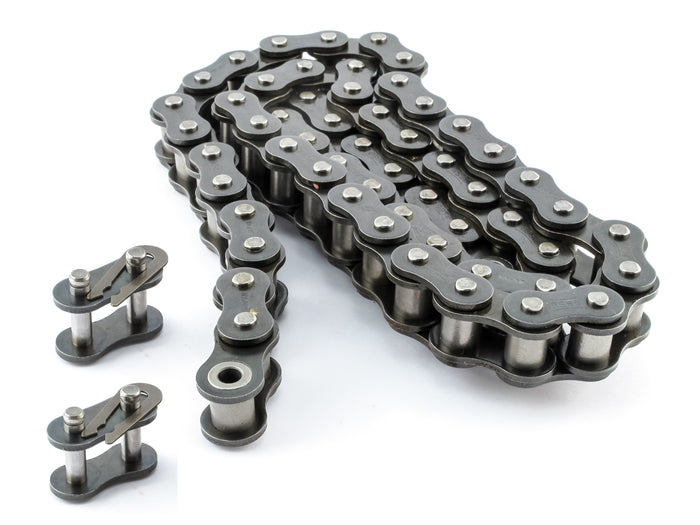 #35NP Nickel Plated Roller Chain x 10 feet - Anti-Corrosion + Free Connecting Link
