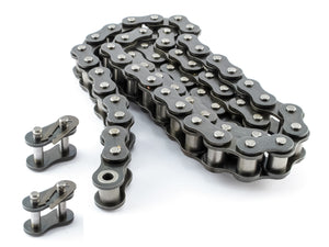 #40NP Nickel Plated Roller Chain x 10 feet - Anti-Corrosion + Free Connecting Link